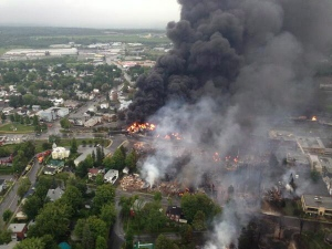 Surete du Quebec photo of the Lac Megantic derailment
